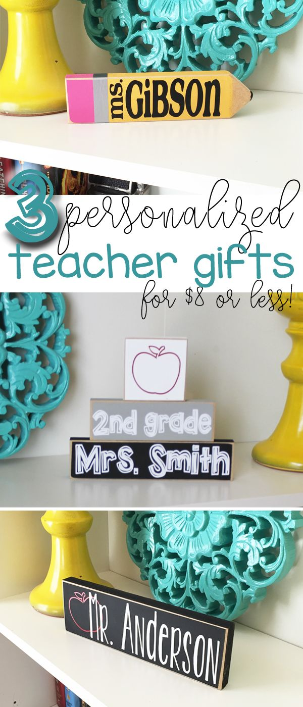 What a great way to thank your teacher for Teacher Appreciation Week or an end of the year gift. These personalized teacher gifts look great in any classroom! Get yours now http://craftswithasideofyou.etsy.com