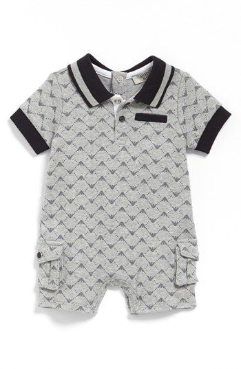 Armani Junior Romper (Baby Boys) available at #Nordstrom
