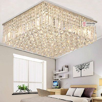Modern Luxury Living Room Ceiling Lamp Fixture Crystal Chandelier Lighting