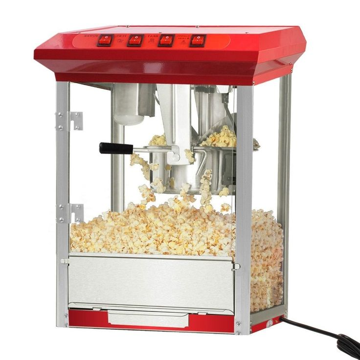Popcorn Popper Maker Machine 8oz Durable Deluxe Red Tabletop Theater Stainless Steel Kettle TC-00801A -- Check out this great image  : Small Appliances