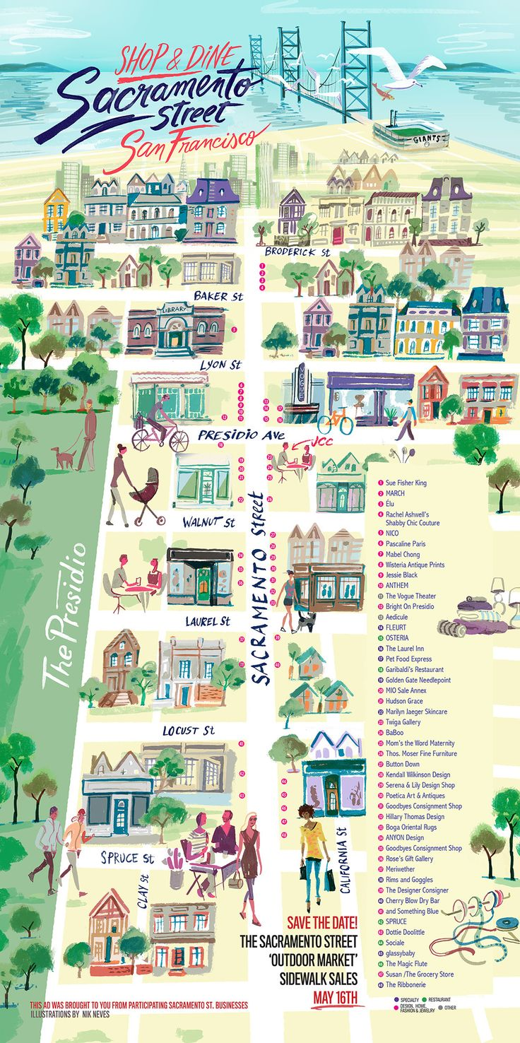 Sacramento St. - San Francisco - Nik Neves #map #sanfrancisco #sfc