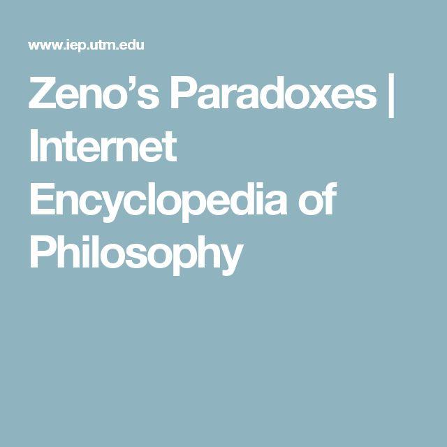 Zeno's Paradoxes   Internet Encyclopedia of Philosophy