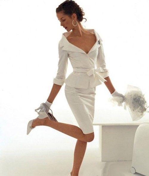 кружевное короткое свадебное платье: коллекция 2017 фото 29
