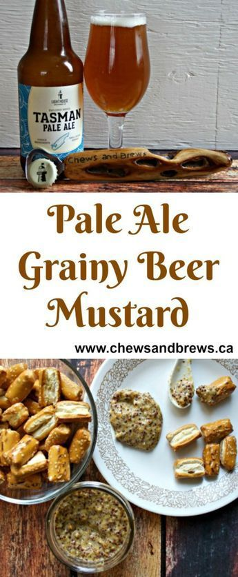 Pale Ale Grainy Beer Mustard ~ Chews and Brews - http://www.chewsandbrews.ca/pale-ale-grainy-beer-mustard/