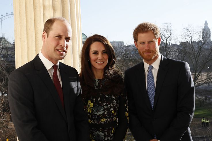 Britain's Prince William, Kate Duchess of Cambridge and Prince Harry pose for p hotograph at the Institute of Contemporary Arts in central London, Britain January 17, 2017. (Photo by REUTERS/Stefan Wermuth)  via @AOL_Lifestyle Read more: https://www.aol.com/article/entertainment/2017/07/08/prince-harry-visits-seriously-ill-5-year-old-boy-helps-makeover/23021930/?a_dgi=aolshare_pinterest#fullscreen
