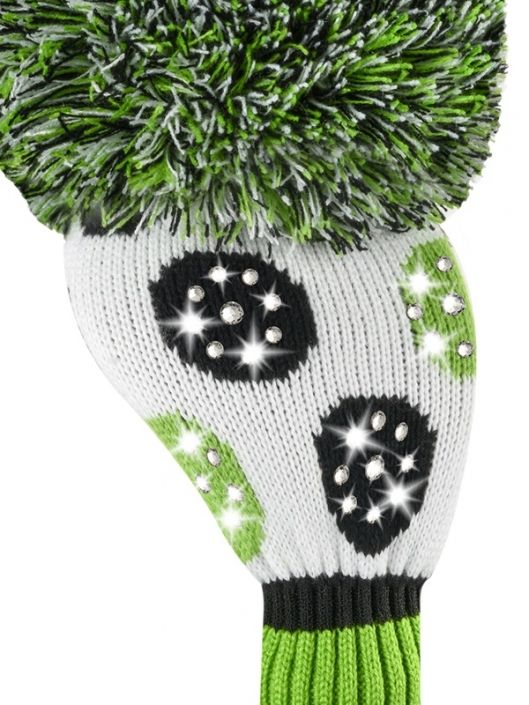 Check out what #lorisgolfshoppe  has for your days on the golf course! Just4Golf Sparkle Large Multi Dot Driver Golf Headcover - Lustrous Lime (Lime/Black/White)