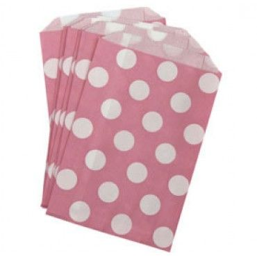 Paper Lolly Bags Pink Spot - Party Shop :: Big Dreams