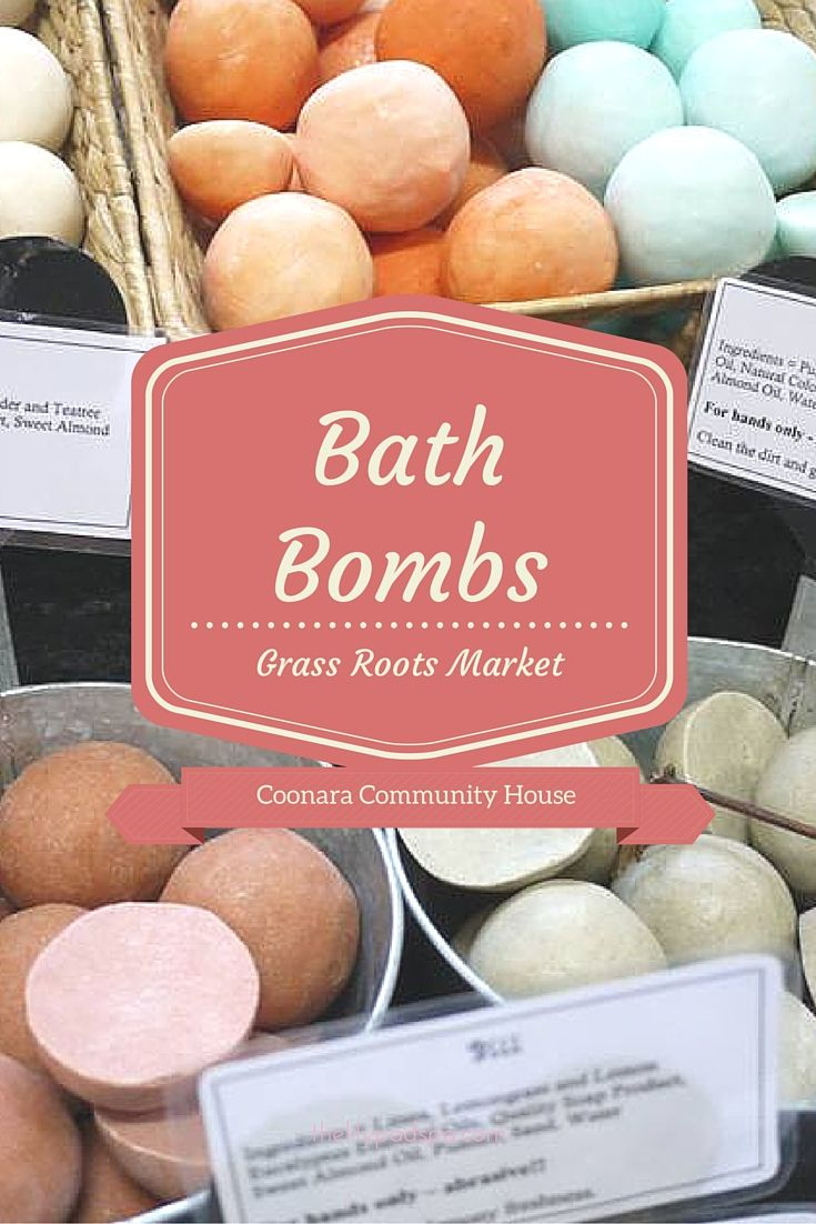 Home made Bath Bombs... Is there anything better!  The Grass Roots Market will have plenty to go round. Come have a look!