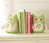 Cute bookends: Books, Idea, Nurseries, Barns Owl, Fabrics Owl, Girls Rooms, Pottery Barns, Owl Bookends, Kids Rooms