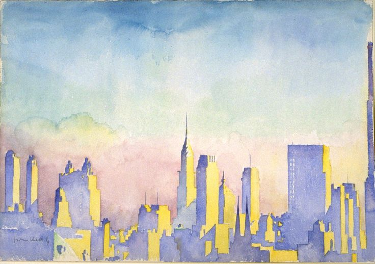 'Manhattan Skyline' / Artist: John Held Jr. / ca. 1934