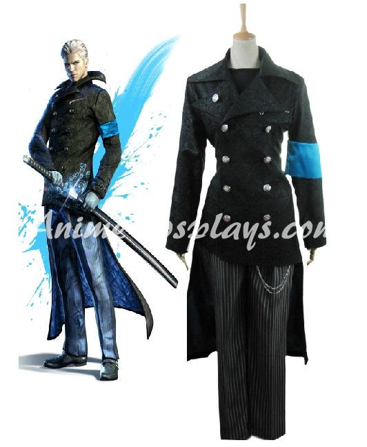 Devil May Cry5 Vergil Yougth Cosplay Costume  www.animecosplays.com