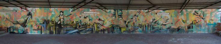 https://flic.kr/p/rRUHdY   Alice Pasquini - Roma (IT)   La citta' della fantasia  Completed wall at the Caritas Center for Unaccompanied Adolescent Immigrants.   via Venafro 30   Photo Jessica Stewart