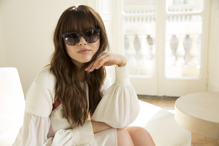 On set with the lovely Kristina Bazan for the making of the Fendi And Thierry Lasry campaign.