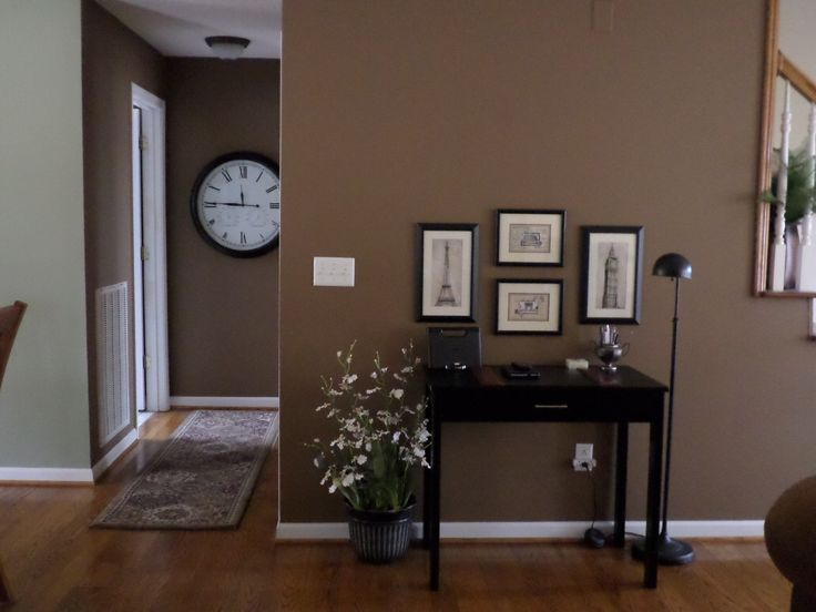 Transition area with behr sweet georgia brown exterior home sweet home pinterest for Living room in brown color scheme