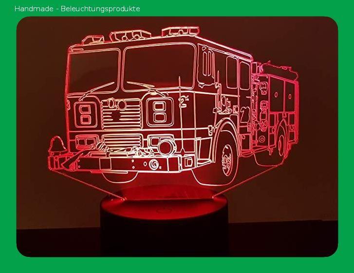 Us Feuerwehrauto 3d Lampe Led Feuerwehrauto Led Lampe Led