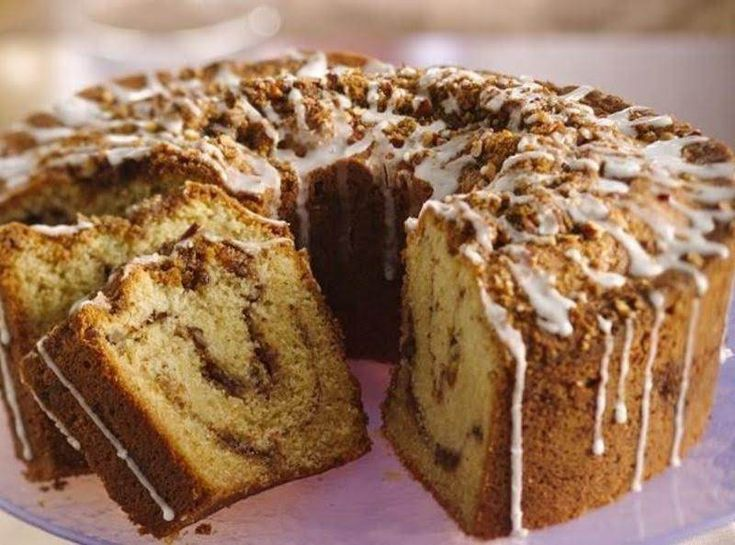 Originally a contest winner, This recipe has been in our family for more than four generations. While various versions,and alternating ingredients, have been ventured, this is the original, and the best, for a moist, delicious, rich coffeecake! The glaze ( a later generation addition) is not needed, and I do not use one. The cake stands alone, whether for dessert, or with breakfast, or just with a cup of coffee. It has been a hit with everyone over the generations with whom we have shared…