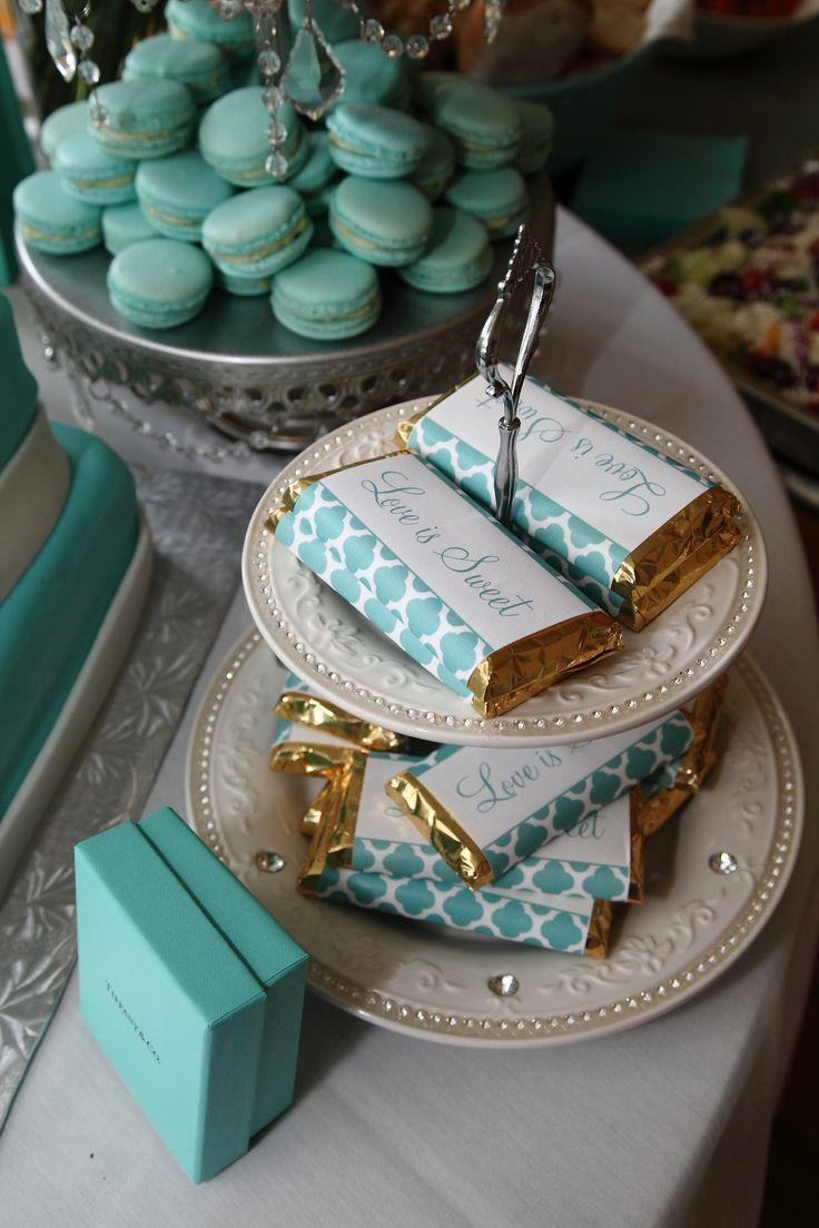 Mesa dulce en azul Tiffany: Imposible resistirse a estas dulces tentaciones!!