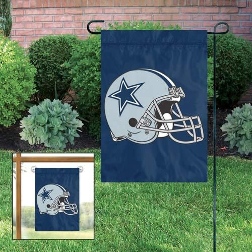 Show off your Dallas Cowboys team spirit for the whole neighborhood to see with this Dallas Cowboys Garden Flag & Stand Set