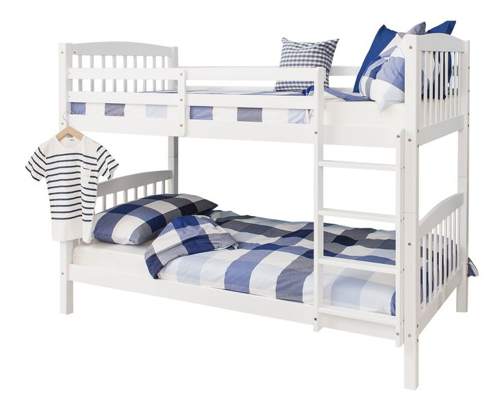 Bunk Bed Wooden Single White Pine Can be split into 2 singles Brighton: Amazon.co.uk: Kitchen & Home