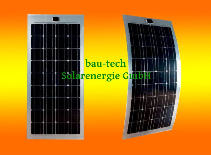 Flexibles Solarmodul Solarpanel Flexibel 100Watt W 12 V Volt Mono semi flex