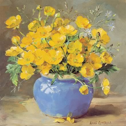 Buttercups | Mill House Fine Art – Publishers of Anne Cotterill Flower Art