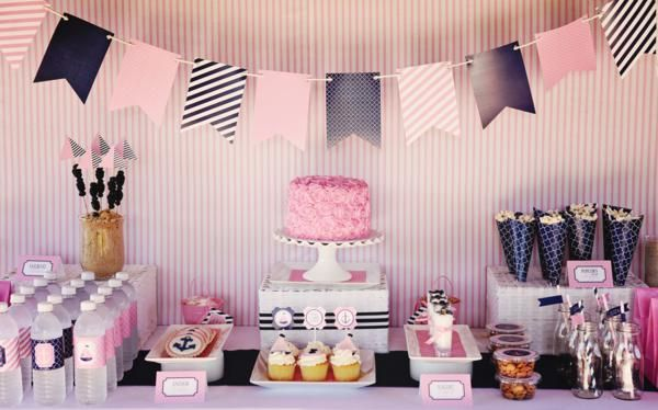 Preppy + Girly Nautical 1st Birthday Party - Kara's Party Ideas - The Place for All Things Party: Party'S, Parties, 1St Birthday, Nautical Party, Partyideas, Party Ideas, Baby Shower, Birthday Party