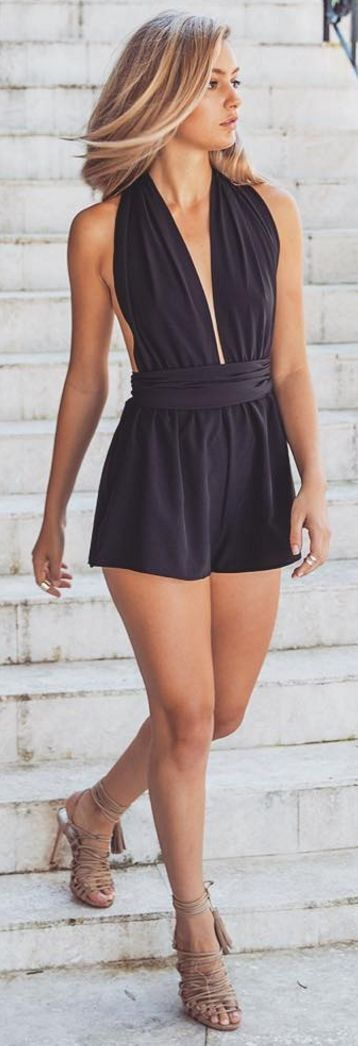 #outfitideas | Black Romper