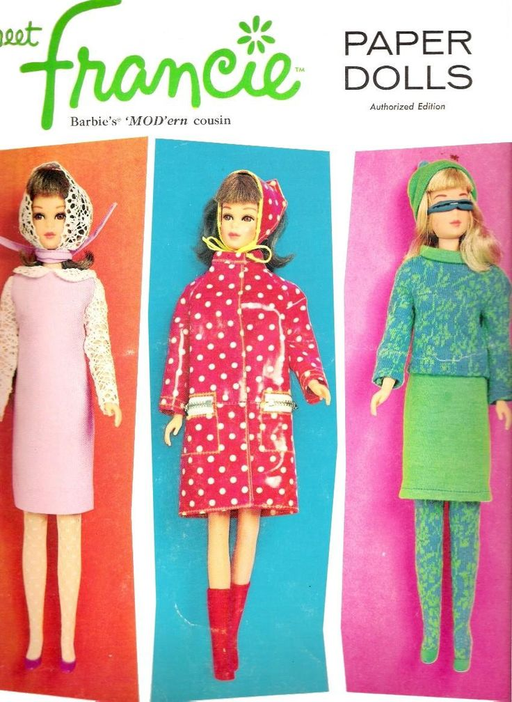 1966 meet Francie Paper Dolls. Ah she was also a barbie like doll, which i had