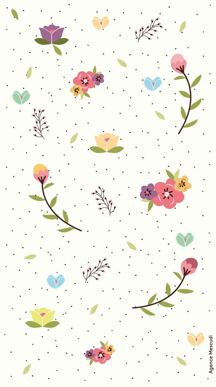 Pressed Flowers iPhone Wallpaper @PanPins