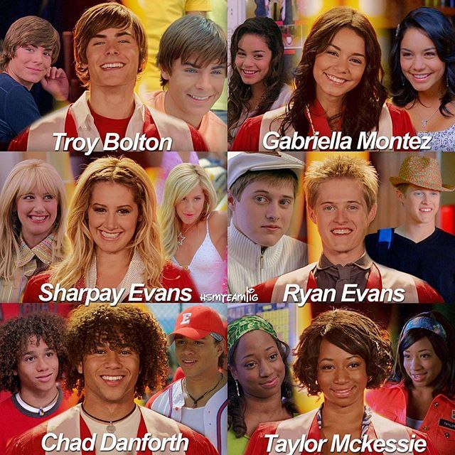 -SUPER EDIT ALERT- Here they are, our babies ... hope you like it! ✨ The evolution of the High School Musical Characters ❤️