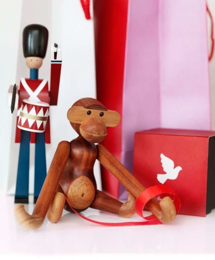 Kay Bojesen Monkey #Spielzeug auf www.flinders.de #kinderspielzeug #holzspielzeug http://www.flinders.de/kay-bojesen-monkey-spielzeug
