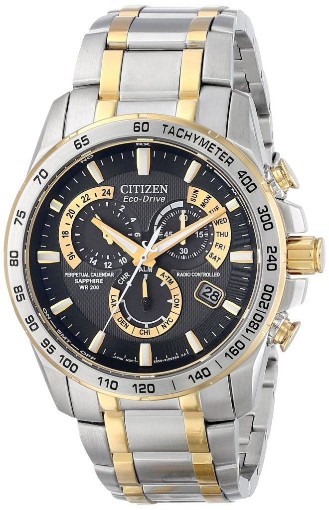 """Citizen Men's AT4004-52E """"Perpetual Chrono A-T"""" Two-Tone Stainless Steel Watch"""