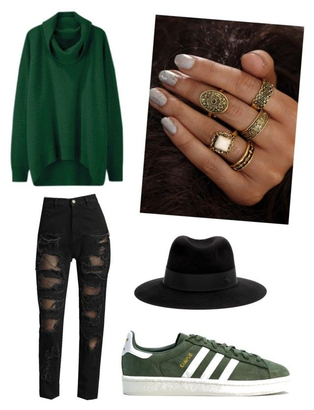 sfsd by pikenaagel on Polyvore featuring Tommy Hilfiger, adidas and Maison Michel
