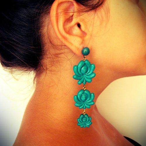 "hungarian ""matyó"" motive earrings-handmade"