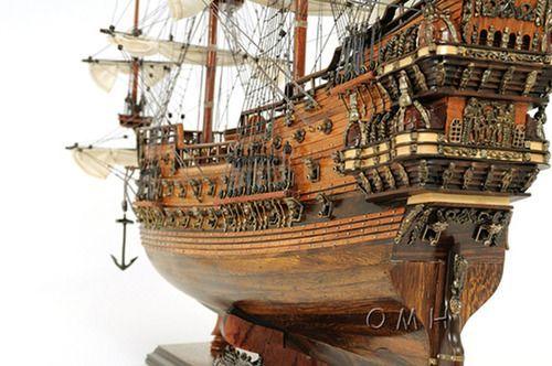 """Vasa Swedish Wasa Warship Wooden Assembled Model Tall Ship 38"""""""""""