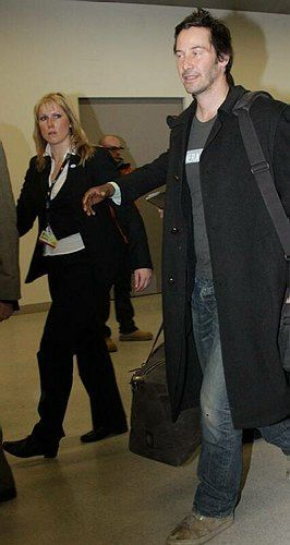 Keanu Reeves arrives at Budapest Airport 16.02.2012
