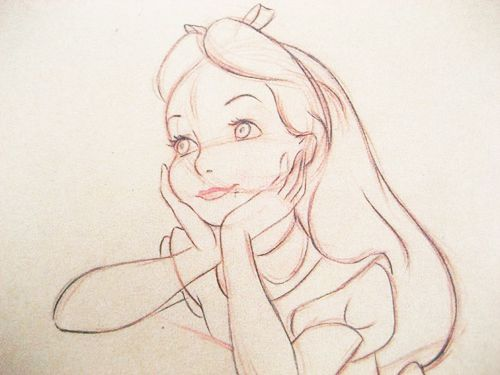Line Drawing Of Child S Face : Best marc davis images sketches to draw and