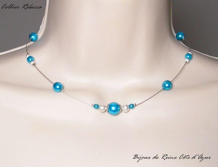 En stock Collection Les Elégantes -Collier Rebecca- MARIAGE : Collier par bijoux-de-reine-cote-d-azur