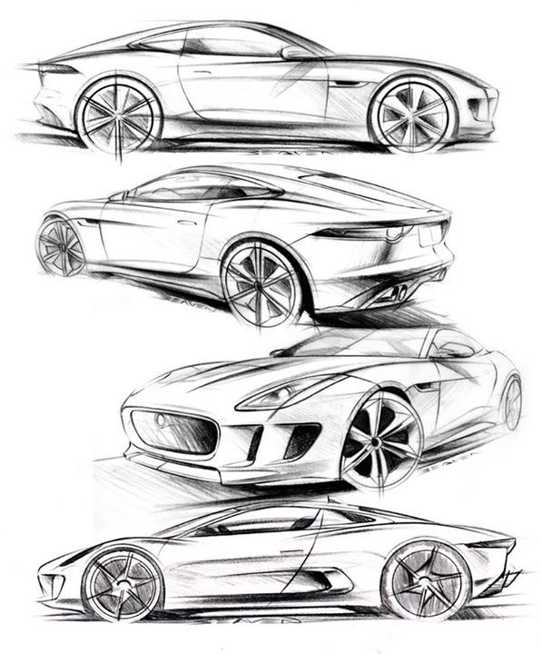22 best abstract images on pinterest automotive design car design 1970 Citroen DS 23 matthew beaven s jaguar concept production pencil sketches f type coupe