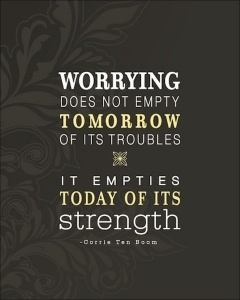 Inspirational Quotes on Worrying
