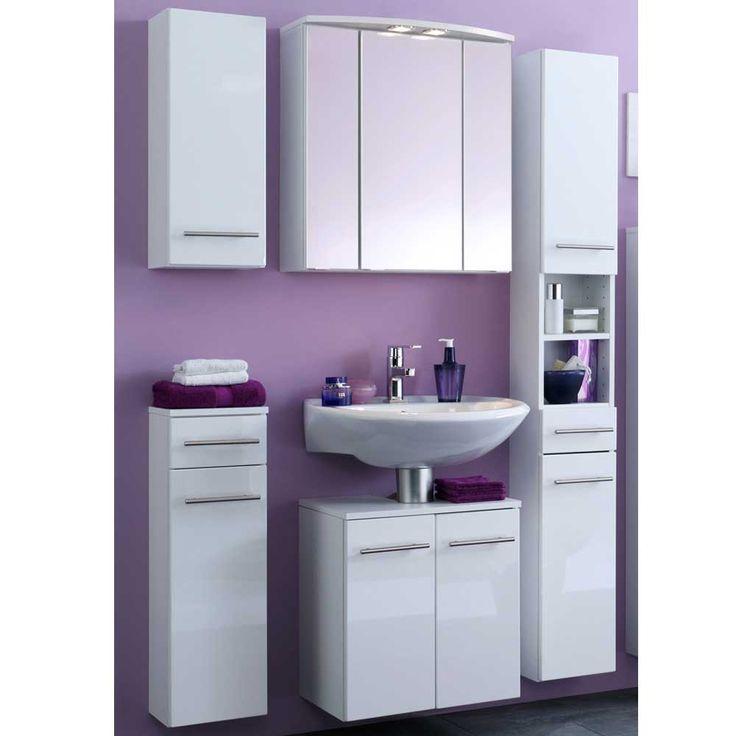 Badezimmer Kombination In Weiß Mit Spiegelschrank (5 Teilig) Jetzt  Bestellen Unter: Https