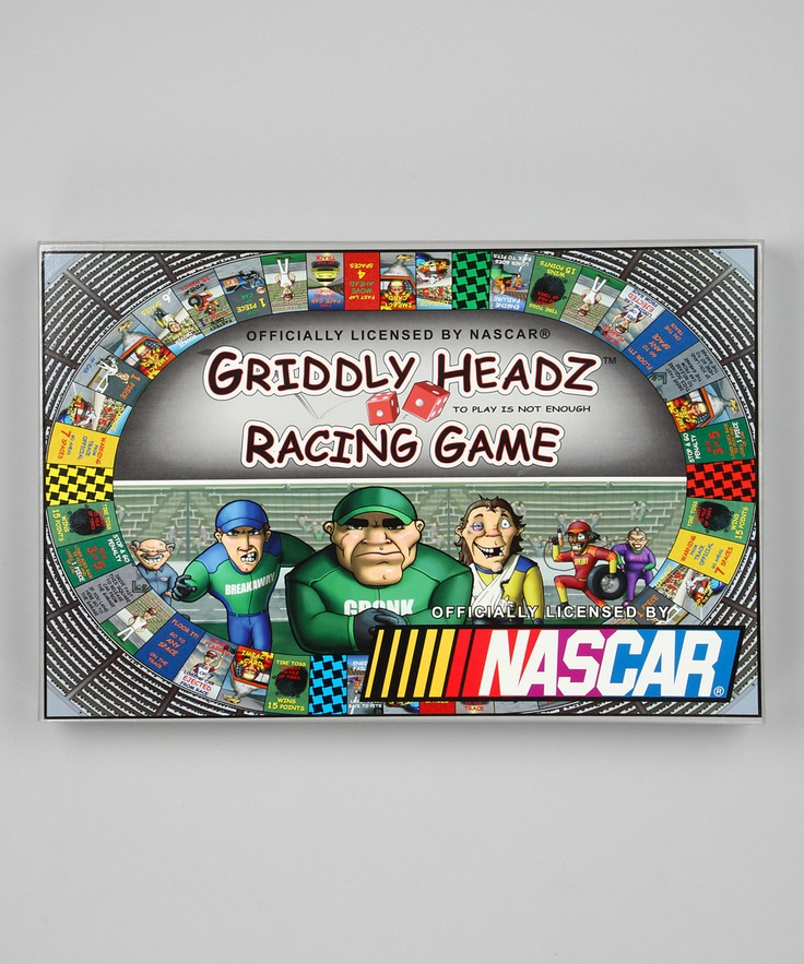 Griddly Headz Racing Game NASCAR Family Edition Game