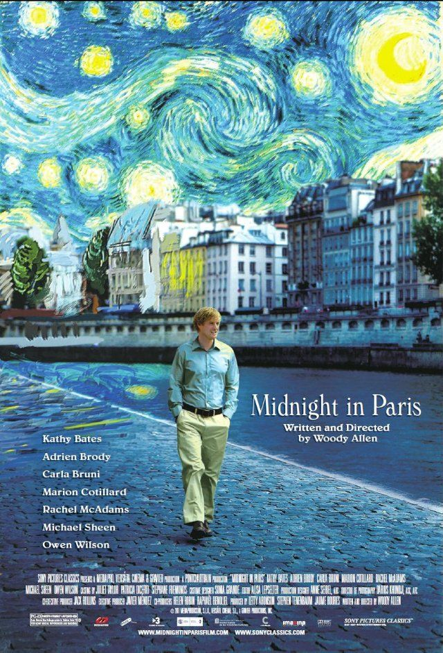 Midnight in Paris (2011) - After some lean years in which his name was more or less hidden in the advertising, this was Woody's biggest hit. A love letter to Paris. He won an Oscar for the screenplay.