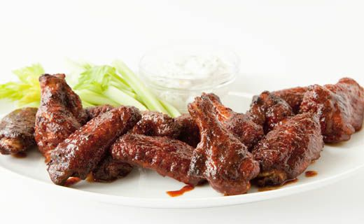 Buffalo Chicken Wings -  A popular spicy #Superbowl favourite. We've reduced the calories and saved the flavour!