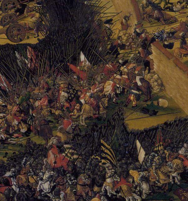 Artist: Heller, Ruprecht, Title: The Battle of Pavia, Detail, Date: 1525