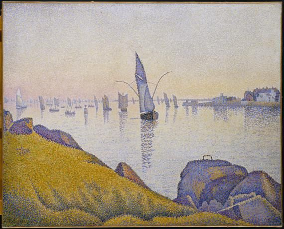 "Paul Signac, ""Concarneau. Calme du soir (allegro maestoso). Opus 220"", 1891. Huile sur toile, 64,8 cm x 81,3 cm. New York, The Metropolitan Museum of Art, The Robert Lehman Collection, 1975.1.209. 