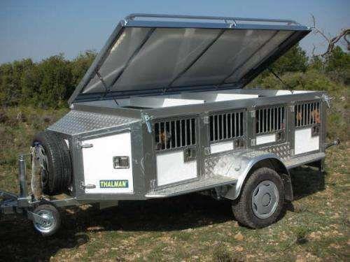 Remolques para perros de caza en aluminio y con suspension,thalman