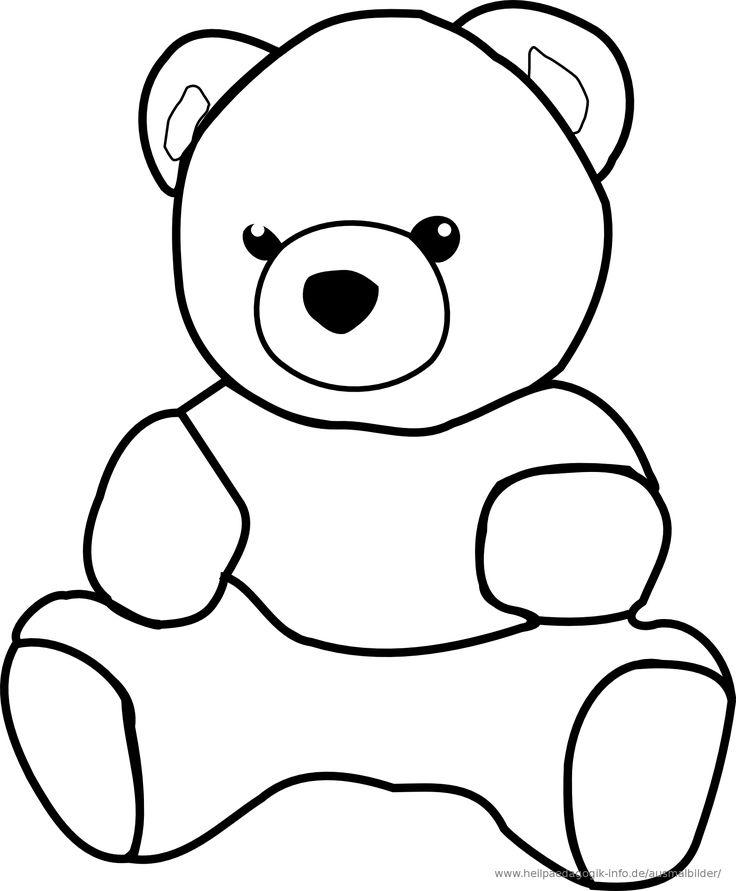 ausmalbilder teddy  ausmalbilder für kinder  ausmalbild