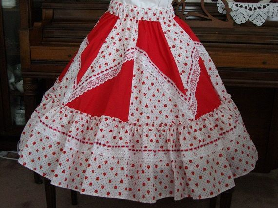Square dance skirt by luckycloverleaf on Etsy