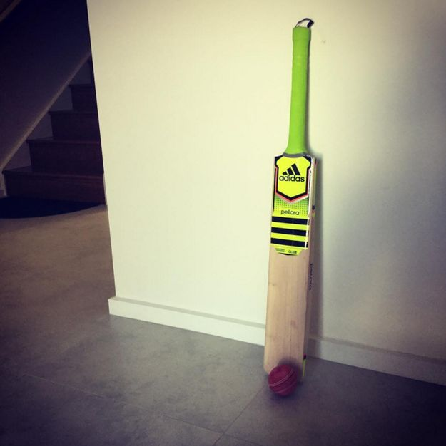 A cricket bat stashed in the back of the hallway cupboard which is hardly ever used. yeah